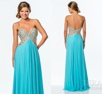 Cheap Aqua Beaded Long Prom Dresses 2016 New A Line Sweetheart Chiffon Formal Evening Gowns Custom Made Military Ball Dress