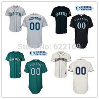 custom baseball jersey - 2016 New Custom Men s Seattle Mariners Jersey Throwback Baseball Jerseys Men Women And Youth Cool Base Home Away White Grey