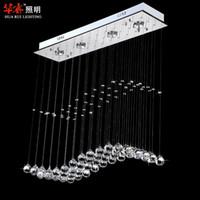 CCC ball bars - Modern spiral chandelier lamps led Wave crystal GU10 pendant light dining room lighting fashion bar lights crystal ball indoor lighting