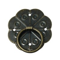 Wholesale Jewelry Wooden Box Case Cabinet Drawer Pull Handle Knobs Flower Antique Bronze cm x2 cm quot x1 quot new