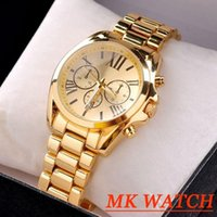 Wholesale luxury brand Quartz Rose Gold Men Casual Watch Dress Watch with Calendar Women Bracelet Japanese Style Quartz Brand drop shipping