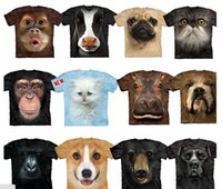 Wholesale 3D digital print funny animals print cotton high quality t shirt custom made assort designs