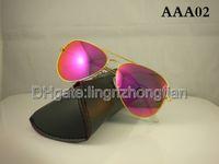 best beaches - Best Sell Brand Designer colorful Mirror Sunglasses Men s Women s beach mm Mirror Sunglass with box