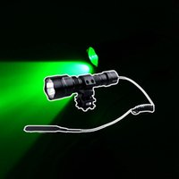 Wholesale Green Light Ultrafire CREE Q5 LED Hunting Flashlight Torch Light Remote Pressure Switch Rifle Mount