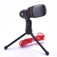 Wholesale Condenser Microphone Professional Condenser Sound Podcast Studio Microfone for PC Laptop Skype MSN Karaoke DHL Free