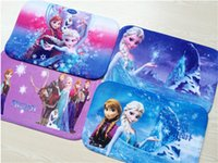 Wholesale 5 Frozen ELsa Anna Non slip bath mat carpet blanket Coral velvet mats Super absorbent doormat Cartoon skid Bath Mats cm