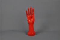 achat en gros de bracelets à la mode rouge-Livraison gratuite!! Modèle à la mode New Mannequin main rouge main pour l'affichage Gants