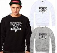 Cheap Free shipping new 2015 fashion autumn winter men hoody Thrasher hoodies skateboard sweatshirt size M-4XL