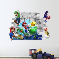 amazon decorations - Amazon Selling The New d Super Mario Three dimensional Wall Stickers Wall Decoration Stickers Can Remove Zy1440