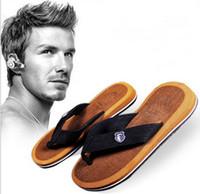 massage slippers - New Men Sandals mens slippers indoor slippers Bakham Leisure Casual Flat Soft Summer Flip Flops EVA Massage Beach Slipper Shoes For Men