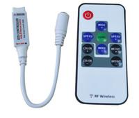 Wholesale 10 Key RF Wireless Remote Mini Controller for RGB SMD Led Strip Light DC V V