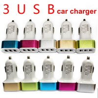 Wholesale 3 in car charger For iPhone s car charger traver Adapter car plug hot selling Triple usb ports Car Charger with No package