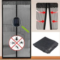 Wholesale MAGIC DOOR CURTAIN MESH MAGNETIC FASTENING HANDS FREE SCREEN Fast Shipping order lt no track