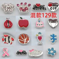 Wholesale 500pcs floating locket charms mixed styles floating locket charms for glass memory living floating locket pendant Xmas gift