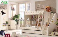 bunk bed - Korean furniture MDF kids bunk bed with stair and cabient combination bed Good sell to Australia New Zealand