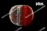 Cheap Free shipping plus half red and clear dot inflatable human hamster bumper ball bubble football soccer loopy crazy stress ball