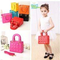 Wholesale Girl s handbag Korea Children Girls Multicolor Handbags PU Leather Vintage Grid Mini Bags For Baby Kids Princess Party Bag Hangbags