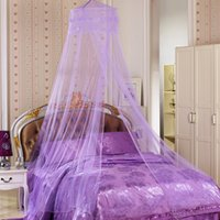 Wholesale Elegant Lace Bed Mosquito Netting Mesh Canopy Princess Round Dome Bedding Net