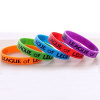 american tv sales - Hot Sale LoL Wrist Strap League of Legend Wristband Silicon Bracelet Online Games Peripheral Jewelry LOL Accessories Colors