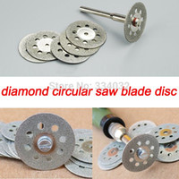 Wholesale 10x mm cutting disc diamond grinding wheel diamond disc circular saw blade abrasive mini drill dremel rotary tool accessories A3