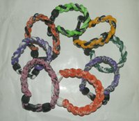 silicone bracelet - hot selling new ropes bracelet tornado bracelet braid bracelet without the package