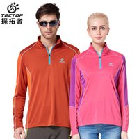 Wholesale New Outdoor Brand Long Sleeve Hiking T shirt Men Quick Dry Coolmax T shirt Men Women High Quality WP HHL002
