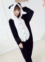 Wholesale Cartoon panda Cute fashion HOT Unisex Adult Pajamas Cosplay Costume Animal Anime Onesie Sleepwear for boy girl couple