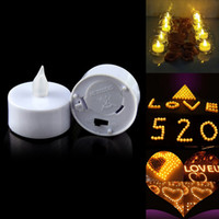 Wholesale Black Friday LED Tealight Tea Candles Flickering Flameless Light Battery Operated Wedding Birthday Party Christmas Decoration