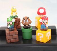 Wholesale Free DHL Super Mario Bros Figurine Toy Cute Figures PVC Super Mario Bros Mini Cute Figures PVC Doll For Kids