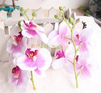 Wholesale NEW Silk Single Stem Orchid cm quot Length Artificial Butterfly Orchids Phalaenopsis for DIY Bridal Headdress Flwoer Accessories