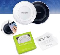 Wholesale Qi Wireless Charger Mini Charging Pad For Samsung Galaxy S6 S6 edge Cell Phone Charges with Retail Package