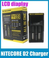 Wholesale Original NITECORE D2 Charger EU AU US UK Plug Smart Charger For IMR Li ion Ni MH Ni Cd Rechargeable Battery High Quality FJ138