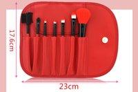 bag violet - x Leather Case colour Professional Cosmetic Makeup Make Up Brush Brushes Set Kit Tools Super Soft Pouch Bag Case