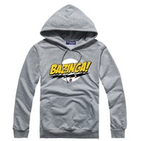 bazinga hoodie - New arrival Men s The Big Bang Theory Bazinga Printed Hoody Hoodies for Men colors Hip hop pullovers Freeshipping