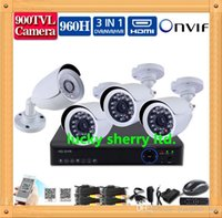 Wholesale CIA CH CCTV System H HDMI DVR NVR TVL IR waterproof Outdoor CCTV Camera Home Security System Surveillance Kit channel