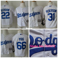 baseball jerseys toddlers - 30 Teams Little Infant Baby Los Angeles Dodgers Jerseys Clayton Kershaw Joc Pederson Yasiel Puig Toddler Jersey Kids Stitched