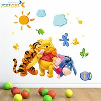 winnie the pooh - Winnie the Pooh friends wall stickers for kids rooms zooyoo2006 decorative sticker adesivo de parede removable pvc wall decal