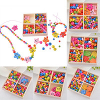 Wholesale Multicolor Wooden Beaded Box Smile Starfish DIY Jewelry Gift For Children Necklace Bracelet Box Random Shipment