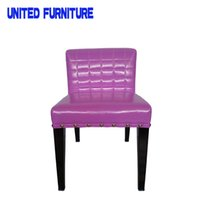 Wholesale colors Metal Bar Chair with Leather Seating Furniture5 color Leather Chair Din For Cafeteria Restaurant Dinner Chair for Balcony Outdoor