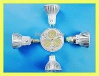Wholesale high power LED spotlight LED spot light W LED bulb light lamp light cup E14 E27 GU10 GU5 MR16 lm AC85 V