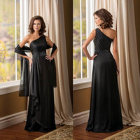 Wholesale Elegant Chiffon Evening Party Gowns One Shoulder Backless Beaded Mother of the Bride Sheath Ruffle Custom Formal Wedding Guest Wear