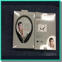 Wholesale Wireless HB bluetooth stereo headset neckbrand style headphone sport earphones with or without retail for LG samsung iphone plus