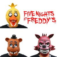 Wholesale five nights at freddy s cosplay masks FNAF cosplay masks Five Nights At Freddy s FNAF Foxy Chica Bonnie Freddy Latex Mask D46