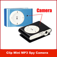 Wholesale Clip Mini DVR MP3 Music Player Hidden Spy Camera Camcorder Cam Digital Video Audio Recorder Blue Black