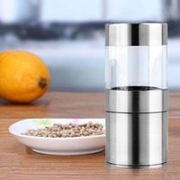 Wholesale 1pc Hot Worldwide Stainless Steel Pepper Mill Electric Salt Spice Grinder Muller Kitchen Tool CE Certificated With Light