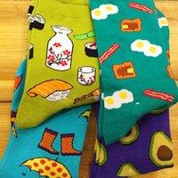 avocado food - man and women socks new creative cartoon life food avocado Fried Eggs lady short tube socks cotton lovers