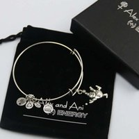bags copper sets - mm diameter silver plated alex and ani snowman Charm bracelet with box Drawstring bag