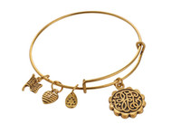 beads path - Fashion Alex Ani antique silver and gold plated simple wiring Alex and Ani Initial path of life charms bead Bangles luckly bracelet Jewelry