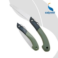 Wholesale foldable garden hand pruning saw as tree pruner and branch cutting tools with non sliding handle and compact size
