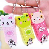 Wholesale Animal Colorful Cute Cartoon Panda Frog Cat Nail Scissors Clippers Keychain Nail Tools Nail Tools free shopping